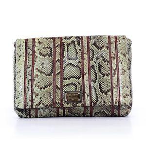 Dolce & Gabbana Snake Skin Jumbo Clutch